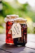 Sour cherry jam with vanilla