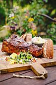 Steak vom Rind - rückwärts gegrillt