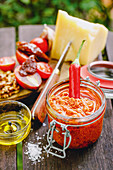 Tomato pesto with walnuts and Parmesan cheese