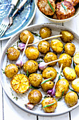 Baked New Potatoes with Lemon and Garlic