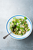 Minestrone with pea shoots