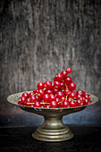Red Currants in a Brass Bowl