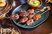 Kofte with a dip for Easter high tea