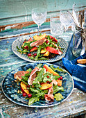Nectarine salad with Parma ham
