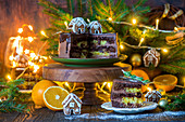 Chocolate orange cake for Christmas
