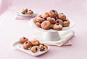 Mini doughnuts with various jam fillings