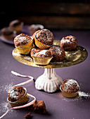 Chocolate macroon muffins for Christmas