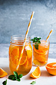 Orange cold tea