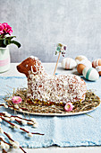Sweet Easter lamb with coconut