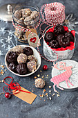 Chocolates and home made choco truffles for Christmas