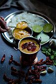 Balti Daal Tadka (lentil dish with chilies, India)