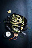 Grilled puntarelle salad