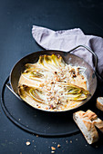 Cheese topped chicory