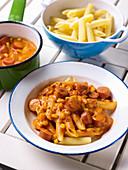 Hot dog pasta
