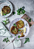 Asparagus and wild garlic fritters