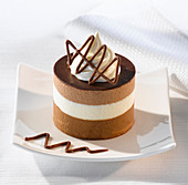 Layered chocolate mousse