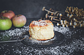 Small apple pie with cinnamon