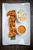 Chicken Tikka with Curry and Rice (India)