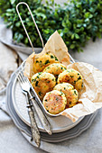 Fried Cottage Cheese Balls with Herbs
