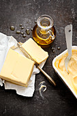 Baking fats – butter, margarine and plant oil