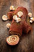 A yule log