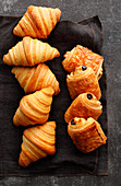 Pain au chocolat and croissants
