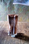 Chocolate coffe smoothie