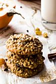 Gluten-free pumpkin and oatmeal cookies