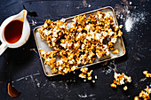 Spicy, salty buffalo wing popcorn