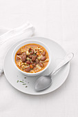 Soup with borlotti beans and pasta (Italy)