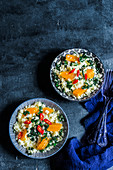 Kale couscous with pumpkin and chilli