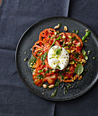 Beefsteak tomatoes with burrata