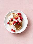 Buckwheat pancakes with raspberries