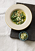Chard soup with quinoa