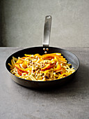 Fried pasta with pumpkin