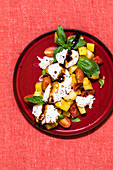 Fried potato caprese