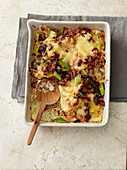 Sauerkraut bake with bacon and cheese