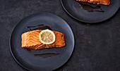 Grilled salmon with yuzu (Japan)