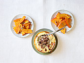Oven cheese with pecan nuts and Hokkaido wedges