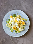 Lemon fennel with egg and herb sour cream
