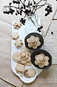 Gluten-free cookies shaped like flowers