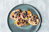 Wholemeal buttermilk and blueberry pancakes