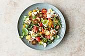 Mediterranean tomato salad with burrata