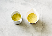 Mustard and dill sauce with yoghurt and angostura
