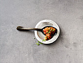 Spicy tomato and lentil sauce