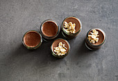 Creamy chocolate pudding with tonka beans and silken tofu