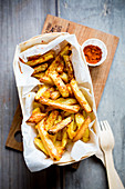 French fries with paprika powder