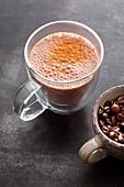 'Coffee Lover' with banana, flax seeds and cinnamon