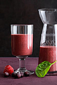 'Purple Passion' made from strawberries, blueberries and spinach