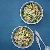 Courgette and chicken risotto